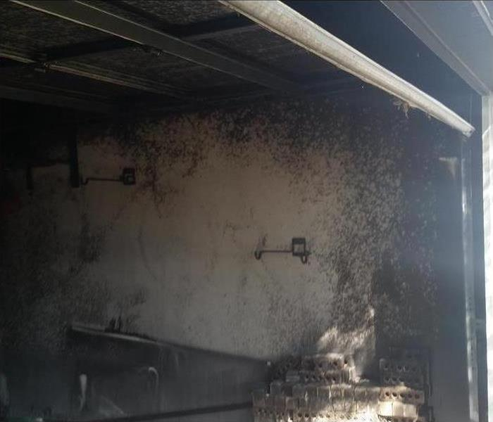 Fire Damage in San Antonio Home Before